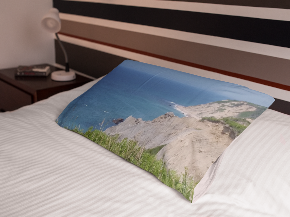 Block Island Bluffs pillowcase.