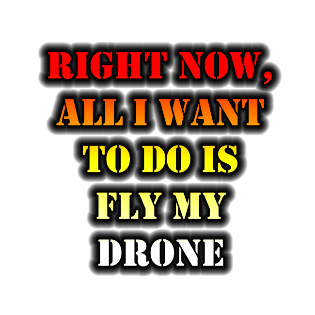 Right Now, All I Want To Do Is Fly My Drone design.