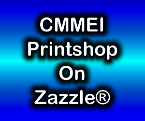 Blue gradient box with CMMEI Printshop On Zazzle® in it.